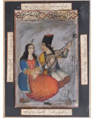 عباس شیرازی - مکتب قاجار - عشاق - دانی که خبر ز عشق دارد